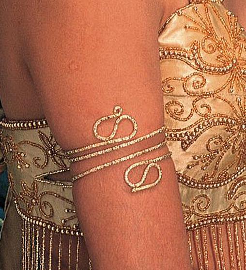Upper Arm Snake Bracelet for Belly Dance - Gold or Silver