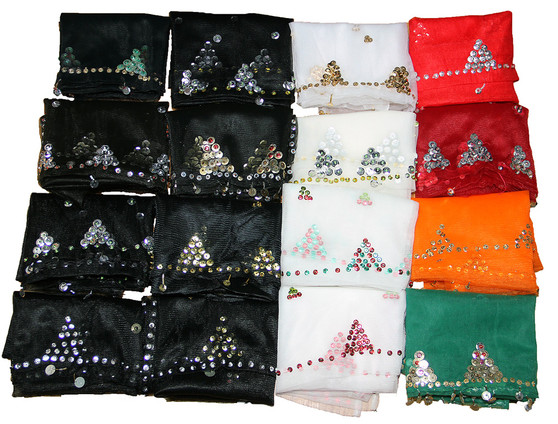 Chiffon & Sequin Scarf from Morocco