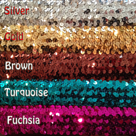 Belly Dance Make It Yourself ~ Brilliant Metallic Stretch Flat Sequin Trim ~ 1 ½ Inch