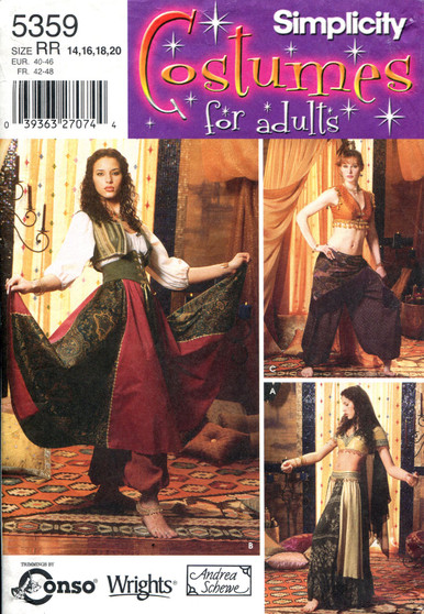 Costume Pattern for Belly Dancers - Simplicity #5359