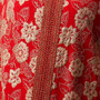 Vintage Caftan in Red and Gold from Morocco