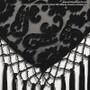 Burnout Velvet Hip Wrap With Beads, Tassels & Sateen Tie - Black