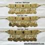 Afghan Style Necklace - Gold Tone