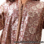 Vintage Caftan Gold and Burgundy from Morocco