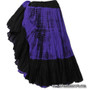 Belly Dance / Tribal Skirt - Cotton 7 Yard Gypsy Skirt in Tie Dye  Purple and Black.