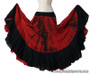 Belly Dance / Tribal Skirt - Cotton 7 Yard Gypsy Skirt in Tie Dye Red and Black.
