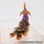 Peacock - Enameled Crystal Hinged Jewelry Box