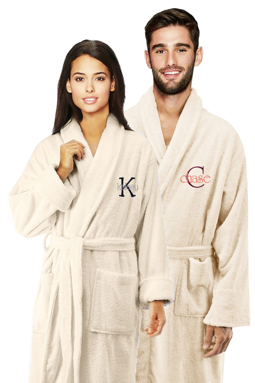 270a2f1ae4 Matching Personalized Embroidered Terry Bath Robes