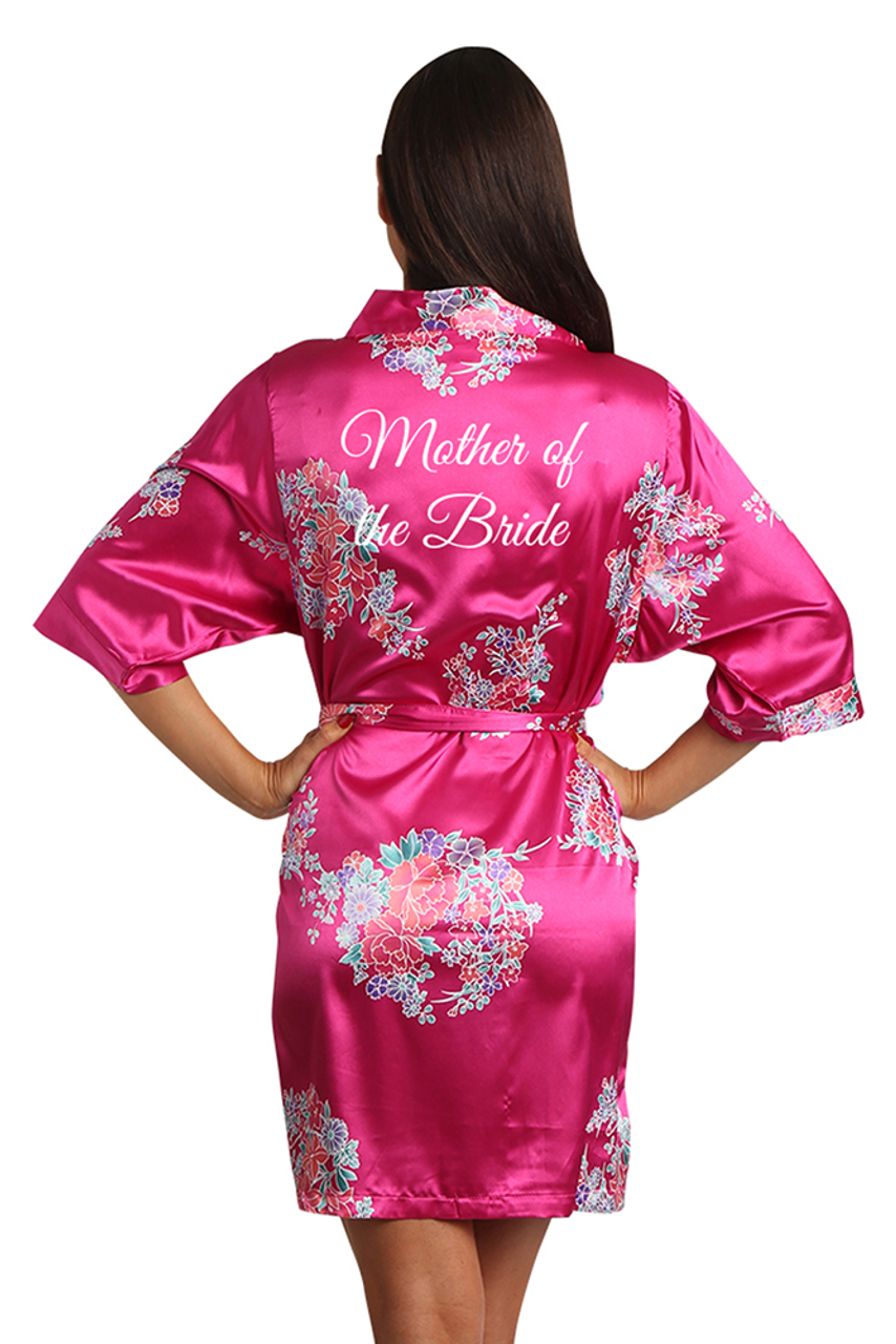 Floral Mother Of The Bride Satin Robe Zynotti