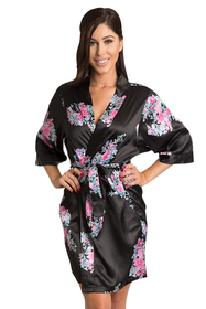 Floral Satin Kimono Robes - Available in 4 Colors