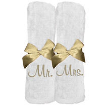 "Mr. Mrs. Beach Towel Sample ""White"""