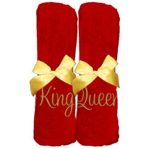 "King Queen Beach Towel Sample ""Red"""