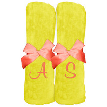 "Initial Beach Towel Sample ""Sunshine Yellow"""