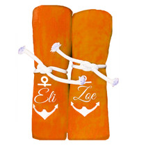 "Eli & Zoe Anchor Beach Towel Sample ""Orange"""