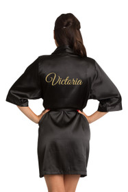 Custom bridesmaid satin robe