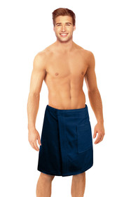 Men's Terry Velour Spa Wrap