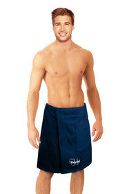 Personalized Men's Terry Velour Spa Wrap with Overlay Font