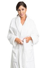 Zynotti's Unisex Microfleece Shawl Robe
