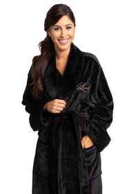 Zynotti's Women's Personalized Embroidered Overlay Tahoe Microfleece Robe