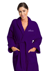 Zynotti's Unisex Personalized Embroidered Velour Shawl Robe