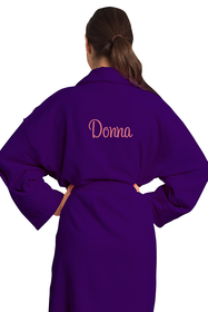 Zynotti's Embroidered Unisex Velour Shawl Robe