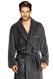 Zynotti's Personalized Men's Velour Shawl Robe
