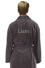 Zynotti's Personalized Men's Velour Shawl Robe-Times Style