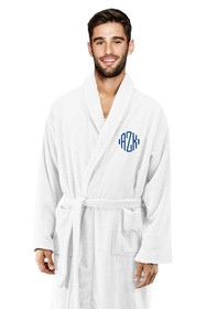 Zynotti's Unisex Personalized Embroidered Monogram Terry Bath Robe