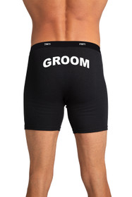 Zynotti Groom Black Boxer Brief
