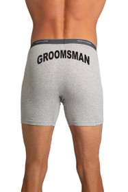 Zynotti's Groomsman Gray Boxer Brief