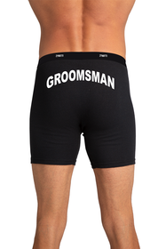 Zynotti's Groomsman Black Boxer Brief