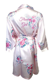 Zynotti Floral Flower Girl Satin Robe
