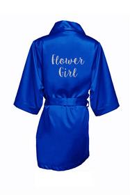 Zynotti's Flower Girl Robe with Glitter Print - Sugar Plum