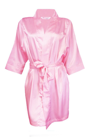 custom embroidered flower girl satin robe