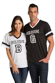 Zynotti's Matching Bride and Groom Couples Football Jerseys
