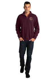 Men's Personalized Embroidered Monogram Quarter Zip Sweater
