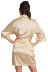 personalized gold robe