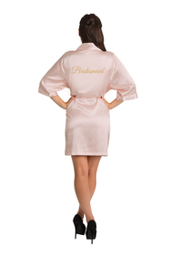 Gold Glitter Bridesmaid Satin Robe