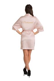 Gold Glitter Bridesmaid Satin Robe