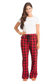 Zynotti personalized custom print buffalo red plaid flannel pajama pants