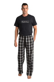 Groom Flannel Pajama Pants Set
