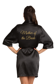 Gold Glitter Mother of the Bride Satin Robe