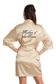 Zynotti's Custom Rhinestone Mother of the Bride Satin Robe
