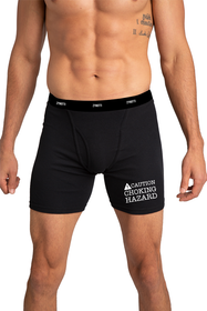 Caution Chocking Hazard Black Boxer Brief