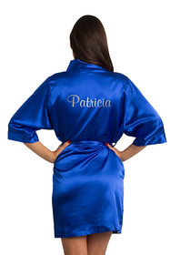 Zynotti's Personalized Metallic Print Satin Robe