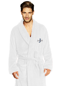 Zynotti's Men's Personalized Embroidered Velour Shawl Robe-Times Overlay
