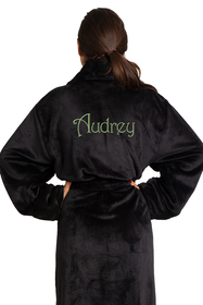 Zynotti's Unisex Personalized Embroidered Tahoe Microfleece Robe