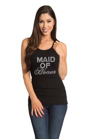 Zynotti's Big Bling Maid of Honor Ribbed Tank