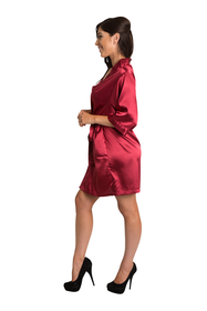 Custom Rhinestone Mis Quince Anos Satin Kimono Robe | Mis Quince Anos Bata de Diamantes de imitacion