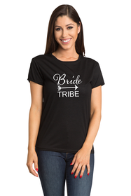 Zynotti bride tribe bachelorette party black tee